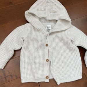 Carter's white sweater 9m